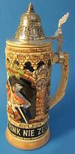 Limited Edition Collectable German Lidded Beer Stein. Hand-painted Old Friends