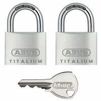 ABUS Titalium 64TI/40 - 2 Stück gleichschließend