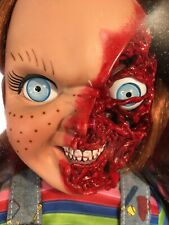 MEZCO CHILDS PLAY 3 TALKING PIZZA FACE 15 INCH CHUCKY DOLL 2018