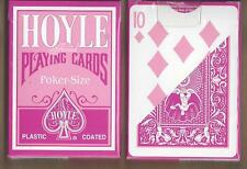 1 DECK Hoyle pink-back playing cards Ohio-made, FREE USA SHIPPING