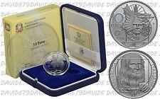 """2006 ITALIA -  10 EURO D'ARGENTO 2006 """" LEONARDO DA VINCI """" PROOF"""