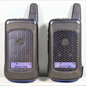 2x UNLOCKED Motorola i576 (Direct Talk iConnect) Radio PTT No Service Required