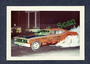 Vintage L&M films drag racing photo card Ray Alley Plymouth Duster Funny Car