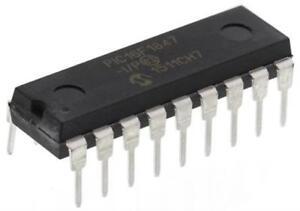 2 x Microchip PIC16F1847-I/P 8bit PIC Microcontroller 32MHz 8 kB Flash PDIP-18