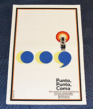 1973 Original Cuban Silkscreen Movie Poster.Punto coma.Russian Mitta.5U4 vacuum