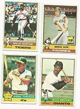 1976 Topps Baseball - Finish your set: U pick lot of 10 cards