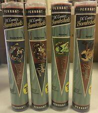 DC Comics Bombshells PENNANT LOT x4  Supergirl, Wonder Woman, Poison Ivy, Harley