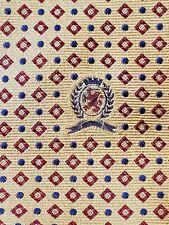 "Tommy Hilfiger Geometric Diamond Gold 100% Silk Tie 58"" Long (4"" Wide) New NWT"