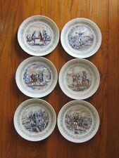 6 Vintage D'Arceau-Limoges Lafayette collectors plates numbered