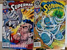 New ListingSuperman Man of Steel #18-19 1st Doomsday 1993 Vg
