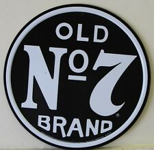 "JACK DANIEL'S 12"" metal sign OLD No 7 BRAND Tennessee sour mash whiskey 1312"
