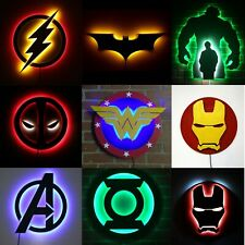 Superhero Night Light Room Decor LED Night Lamps for Kids and Adults, Gift