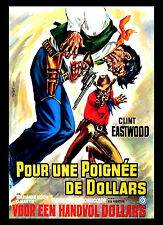 A3 - Clint Eastwood Fistfull of Dollars Movie Cinema wall Home Posters Art #10