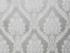 "56"" Wide Grey Drapery Upholstery Jacquard Damask Fabric Sold by The Yard"