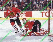 CHRIS CHELIOS,ED BELFOUR CHICAGO BLACKHAWKS 8 x 10 color photo hockey #cbk7e7gs9