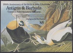 ANTIGUA AND BARBUDA - 1986 Birth Bicentenary of John J Audubon MS - UM / MNH*