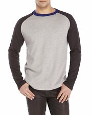 NWT Tailor Vintage Mens Baseball Sweater Cotton/Cashmere Grey Charcoal XL Sharp!