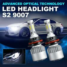 Pair 9007 HB5 14000LM LED Headlight Bulbs 6000K High-Low Beam Kit Super Bright