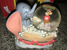 Walt Disney DUMBO MUSICAL WATERBALL Classic PLAYS CALLIOPE Enesco SNOW GLOBE New