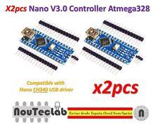 2pcs Nano V3.0 Controller Board Atmega328P Compatible Arduino Nano V3 CH340