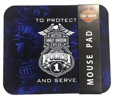 Genuine Harley Davidson® Police Computer Mouse Pad Mat MO126389