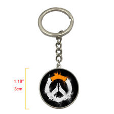 New Game Overwatch Logo Style Alloy Metal Model Keychain Keyring
