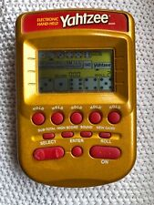 Hasbro Yahtzee Electronic Hand Held Game - 2002 - Gold and Red - Works Well