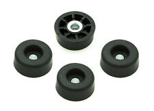 8 ROUND RUBBER FEET  BUMPERS - 1/2 H x 1 W  RADIO AMPS /  MADE IN USA / FREE S&H