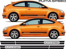 "Ford Focus RS/ST MK2 3 puertas o 5 puertas ""Puma Velocidad"" Rayas Laterales/Pegatinas"