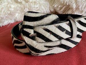 Zara Animal Print Fur Belt