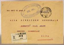 POSTA MILITARE 81 RACC. TIMBRI 3° REGG. GENIO 67^ COMPAGNIA 8.9.1919 #XP426F