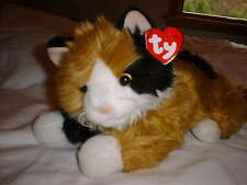 TY CLASSIC PLUSH CARLEY The Calico Cat Retired 2000 EUC With Crease In Hang Tag