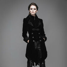 New Women Jacket Long Coat Black Velvet Gothic Steampunk Baratheon Devil fashion