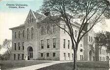 Vintage Postcard Ottawa University Kansas school college students exterior photo