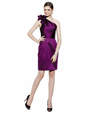 NWT Badgley Mischka Purple One-Shoulder Satin Brides Maid Dress *Size 12