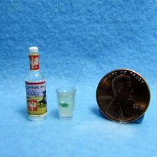 Dollhouse Miniature Vodka Bottle with a Vodka & Tonic Drink ~ FA11135
