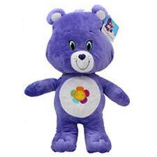 "17"" Care Bear Plush Purple Harmony Bear Multi-Color Petal Flower NEW"