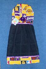 **NEW** Handmade NBA Los Angeles Lakers Black Hanging Kitchen Hand Towel #1399