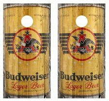 1936 Budweiser Beer Can Cornhole Board Wraps FREE APP SQUEEGEE #1478