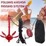 Anchor Kit Rope Set with Storage Bag Folding For Kayaks Jet Skis Boats Fishing