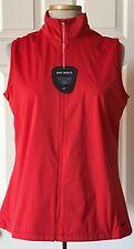 $80 NWT Womens Nike Golf 726156 Shield Wind Full Zip Vest Light Crimson Red L