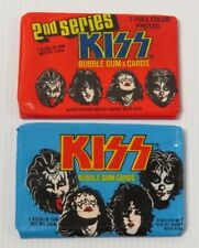 KISS 2 SEALED DONRUSS TRADING CARD PACKS 1978 AUCOIN