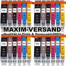24x XL Tinten-Patronen Set für PGI-520 CLI-521 mit Chip & Grau Pixma MP980 MP990