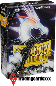 ♦Yu-Gi-Oh!♦ 60 Protèges Cartes/Sleeves SMALL Dragon Shield - Clear (Transparent)