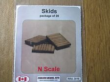 Osborn Model Kits N Scale Skids/ Pallets 20 Pack Kit  RRA-3016 Bob The Train Guy