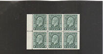 s133 | 1932 Canada 1c George V booklet pane, Scott #195b, c.v. $47 in 2016