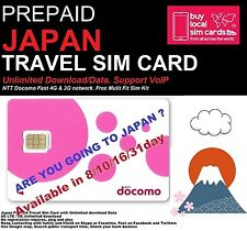 Travel to Japan? 31 days Prepaid data SIM card 6GB data! NTT DOCOMO 4G Network