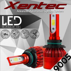 2x CREE 200W 20000LM HB3 9005 COB LED Headlight Kit Bulbs 6500K Single High Beam