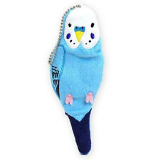 Soft and Downy Plush Bird Stuffed Chain Stationery Petit Pouch Case Cover (Blue)