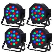4Pack DJ PAR 18*3W LED Lights Wash RGB PAR64 DMX Stage Lighting DJ Party Lights